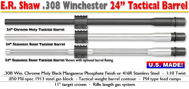 24-inch Tactical .308 Barrels